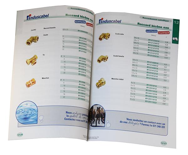 Catalogue destiné au professionnel avec une mise en page claire